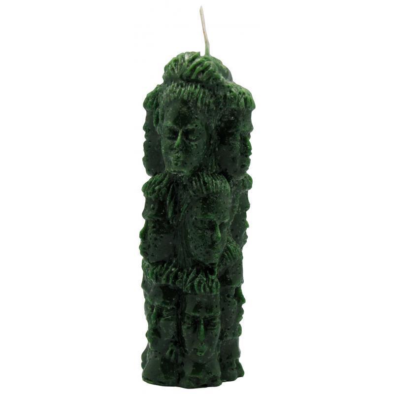 Baño Blanco Santeria:VELA FORMA Mil Caras 145 x 5 cm (Verde) (Blister)